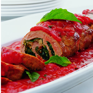 Asiago Stuffed Veal Roll
