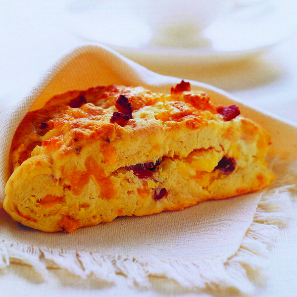 Bacon, Egg, and Cheddar Scones